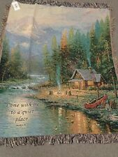 Thomas Kinkade End of a Perfect Day Ii Throw-Afghan50 x 60 inches verse made Usa