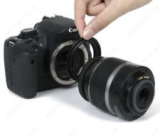 Lentille Adaptateur Macro Inverse Bague 49 mm pour Canon EOS 500D/600D/700D Caméra