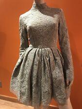 NWT$2775 Proenza Schouler Runway Lace High Neck w/ Open Back Dress sz 4