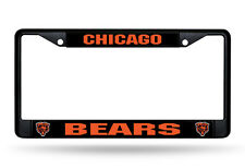Chicago Bears Authentic Metal BLACK License Plate Frame Auto Truck Car NWT
