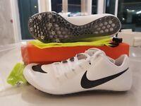 Nike Zoom JA Fly 3 Track Spikes White Grey Silver Black SZ ( 865633-102 )