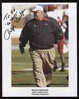 Ralph Friedgren Signed 8x10 Photo College NCAA Football Coach Autographed