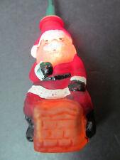 "Christmas 60169 Light Cover Glass Old World Santa in Chimney 3.5"" Vintage 1980"
