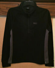 WOMEN'S TREK MATES BLACK TOP-XL-CH/40inch-L/SL-FUNNEL NECK-10-1/2inch-FRONT ZIP