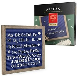 ARTEZA PREMIUM SOFT FELT BLUE LETTER BOARD SET NEW AND SEALED 526 NUMBERS