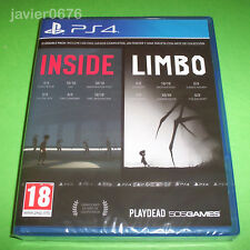 INSIDE + LIMBO NUEVO Y PRECINTADO PAL ESPAÑA PLAYSTATION 4 PS4