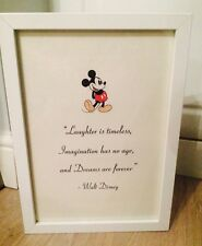 Walt Disney Mickey Mouse Vintage Quote Art Print Unframed Gift Nursery Home