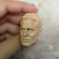 Free Shipping blank 1/6 scale Head Sculpt Oliver Queen Arrow Unpainted fit 12""