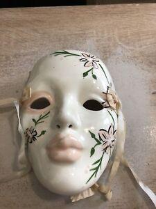 mardi gras mask ceramic
