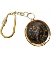 Nautical Brass Compass Pocket Key Chain gift item