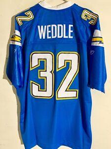 Reebok Premier NFL Jersey San Diego Chargers Weddle Light Blue Alternate sz 3X