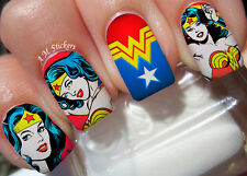 Wonder Woman Nail Art Stickers Transfers Decals Set of 22