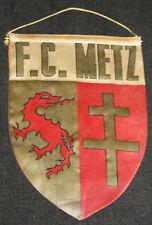 FOOTBALL PENNANT VINTAGE FANION FOOTBALL CLUB METZ CHAMPIONNAT DE FRANCE 50'S