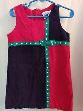 Hartstrings girls Red Blue corduroy jumper Christmas sz 4T more listed! Vintage