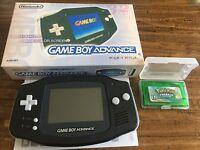 Nintendo GameBoy Advance Black Handheld System + Pokemon Emerald