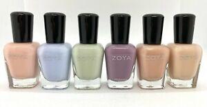 NEW 2020 Zoya Natural Nail Polish - Calm Collection - 6 Piece Set