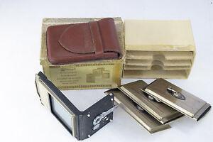 ROLLEIFLEX 6x9 Cut Film Adapter Set - Boxed - Rolleicord