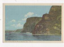Caps Trinite et Eternite Riviere Saguernay Quebec Canada Vintage Postcard 302a