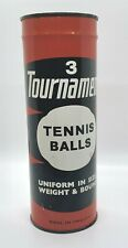 VINTAGE TOURNAMENT TENNIS BALLS UNOPENED MADE IN ENGLAND FLAT LID w KEY