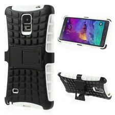 Samsung Galaxy Note 4 Outdoor Case Hybrid Rugged Schutz Hülle Kickstand Weiß