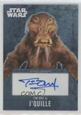2016 Topps Star Wars Evolution Autographs TIDR Tim Dry as J'Quille Auto Card 0a7