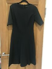 Gorgeous Reiss Black Short Sleeve Midi Dress UK 10 Worn Twice