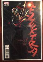 Elektra issue #3 1:25 Mike Deodato Variant NM Marvel Now Matt Owens Juan Cabal