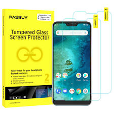 PASBUY 2 Pack Tempered Glass Screen Protect for Xiaomi Mi A2 Lite (Redmi 6 Pro)