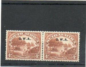 SG 62 SOUTH WEST AFRICA 4d MINT PAIR. CAT £12