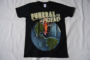 FUNERAL FOR A FRIEND GLOBE T SHIRT NEW OFFICIAL CASUALLY DRESSED HOURS MEMORY