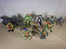 Teenage Mutant Ninja Turtle TMNT Figure Lot of 10  and Stealth Cycle modern Lot