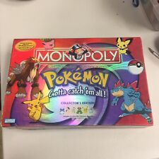 Pokemon Gold and Silver Monopoly 2001 Collectors Edition Rare MISSING MOVERS