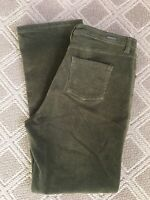"Woolrich Women's Size 10 Lt Olive Green Corduroy Pants Stretch 34""x30"""
