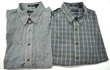 Van Heusen Men's Size XXL 18-18 1/2 Long Sleeve Button Up Dress Shirts Lot of 2