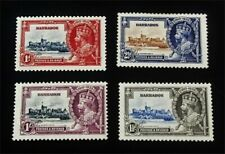 nystamps British Barbados Stamp # 186-189 Mint Og H $30 J15y2112