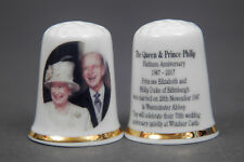 The Queen & Prince Philip Platinum Anniversary 70 years Thimble B/155