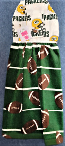 """NEW* Handmade """"Licensed NFL Green Bay Packers!"""" Hanging Kitchen Hand Towel #2846"""