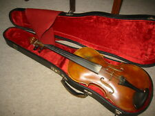 Beautiful old 4/4  Violin violon, deeply flamed 1part back, lined & full blocked