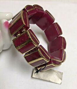 CHICOS Raspberry Stretch Bracelet