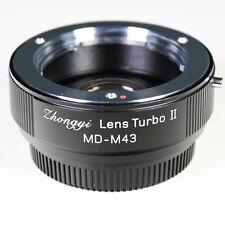 Zhongyi Focal Reducer Lens Turbo II Booster Minolta MD für Micro 4/3 Adapter MFT