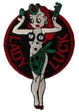 "Lady Luck ""Nose Art"" Patch (099) 2 1/2"" x 3 1/2"" Embroidered Patch 51420"