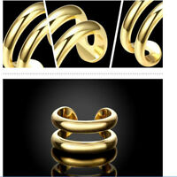 Womens Gold Plated Double Line Wrap Ring Adjustable Jewellery Thumb Finger Gift