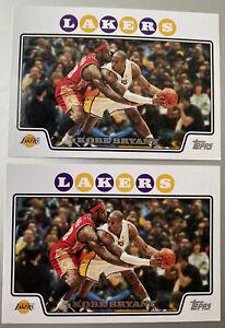 2008-09 NBA Topps Kobe Bryant vs. Lebron James #24 (2 card lot) LA Lakers