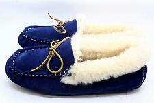 Pajar Womens India Slipper Shoe Moccasin Navy Suede Size 40 EU 10 US
