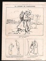 WWI Caricature Pickelhaube war/Map Austria Hungary Germany 1915 ILLUSTRATION