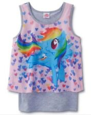 My Little Pony Shirt Girl's size 10/12 Rainbow DASH Tank Top NeW Hearts NWT