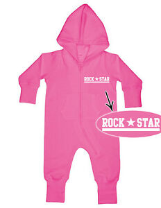 ROCK STAR Baby All-in-one Sweatsuit pink