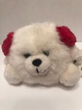 "Russ Berrie Plush Toy ~ Snowball ~ Winter Snow Holiday Earmuffs 8"""