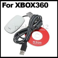 PC Wireless Gaming Receiver Adapter for Microsoft Xbox 360 Controller White