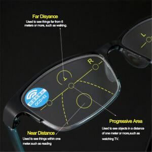 Anti-blue Light Reading Glasses Progressive Multifocal Lens Frame Presbyopia-